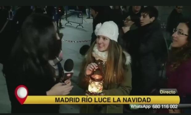 María del Carmen Castaño Ramos. Fieta de la luz de los farotillos en Madrid Río. Pasacalles lumínico